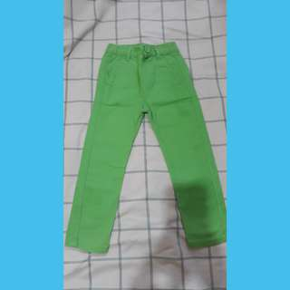 Green unisex pants
