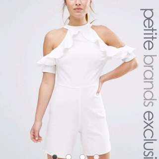 ALTER RUFFLE OFF SHOULDER PLAYSUIT