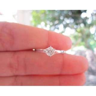 .35 Carat Diamond White Gold Engagement Ring 14k