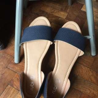 Rubi peep toe flat sandals (free shipping metromanila)