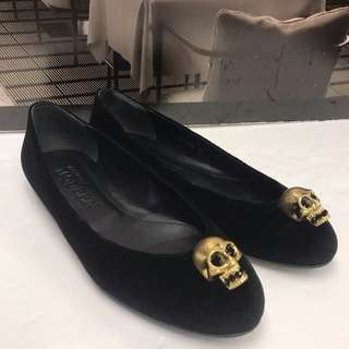 Alexander McQueen Seude Leather Flat Shoes