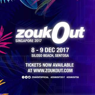 Zoukout Day 1 Tickets (X2)