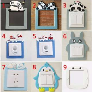3 PIECES Portable Wall switch sticker Glow in the dark