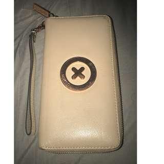 Nude/Rose Gold Mimco Zip Wallet