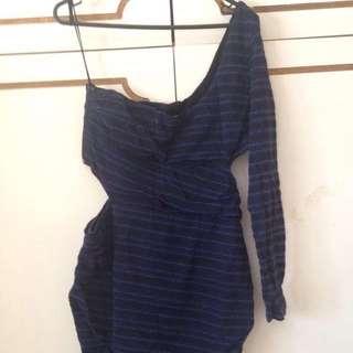 Bec And Bridge One Shoulder Cutout Dress Size 12