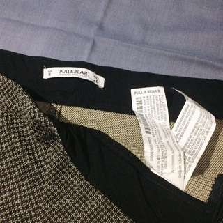 pull and bear pattern pants