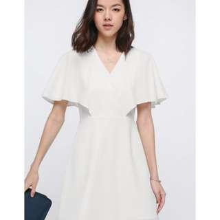 Lovebonito Fran Flutter Sleeve Dress