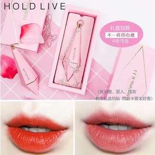 🚚 hold live粉色鑽石型啞光霧面唇膏