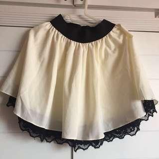 Off White High Waist Skirt