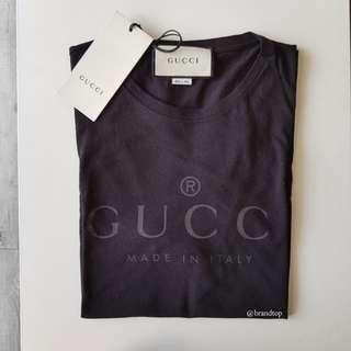 Authentic Gucci Black Logo T Shirt
