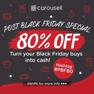 Post Black Friday Sale! 80% off!