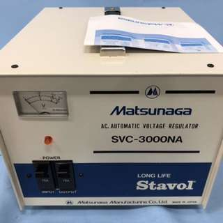 Matsunaga AC auto voltage regulator & step down/up transformer