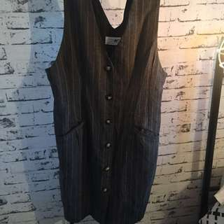 VINTAGE BUTTON DOWN DRESS (I like to layer with a tee underneath :)