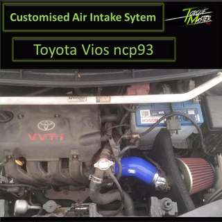 New! air intake for vios ncp93 . air filter with labour . open or close pod . with heatshield.