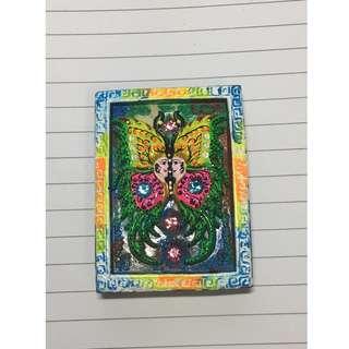 Kruba Krissana Butterfly (Dream Blk) - With Yant Behind