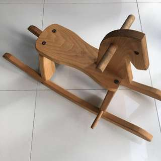 Wooden rocking horse Montessori motor skills toy