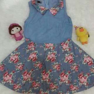 Dres denim cantik