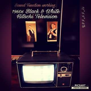 1960s HITACHI Black and White Television. Working, it has clear sound but fuzzy or no image. $108 offer, Sms 96337309.