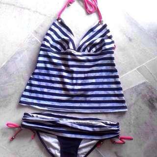 💙TieDye Stripes Halter Bikini