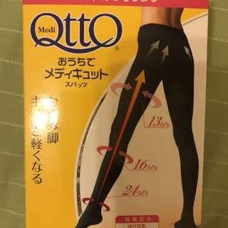 爽健Otto 美魔纖腿黑色襪褲