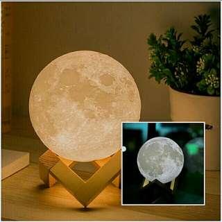 Night light 3D printing moon lamp on hand