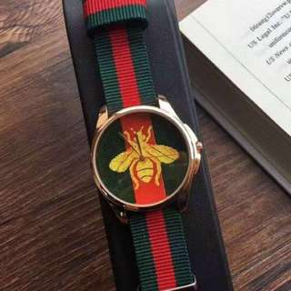 Gucci Embroidered Watch Unauthorised Authentic