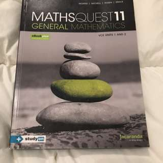 General maths unit 1 and 2 textbook
