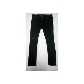 TOPMAN Stretch Skinny Ripped Jeans