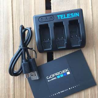TELESIN CHARGER FOR GOPRO BATTERY HERO 5 BLACK GOPRO HERO 6 BLACK