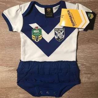NRL Bulldogs Girls Footysuit 0-3 months (000)