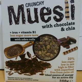 早餐麥片 黑可可奇亞籽燕麥脆片