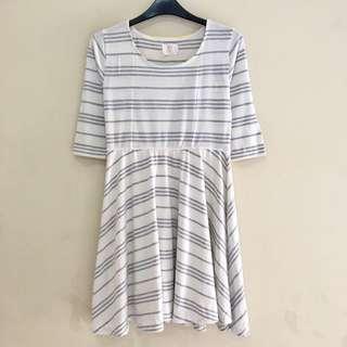 Korea 2 in 1 Stripe Dress