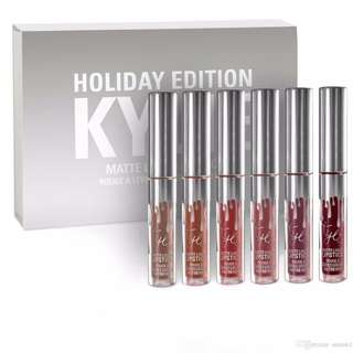 6 Pcs Set Holiday Edition Matte Liquid Lipsticks