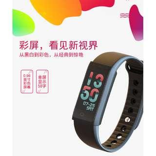 魔樣彩屏 B4 血壓心率監測運動健康計步智能穿戴手環