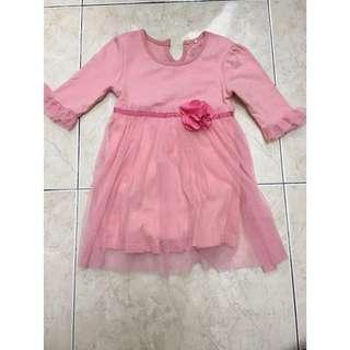 Preloved Girl Tutu Dress Cotton for 1Year