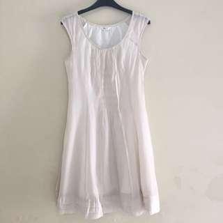 White Slim Fit Dress