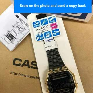 Casio Gold and Black Japan Made OEM