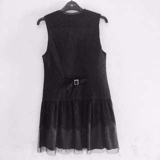 Black Korea Lacey Dress