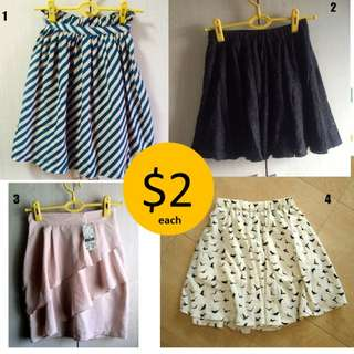 $2 SALE - BN / PL Skirts