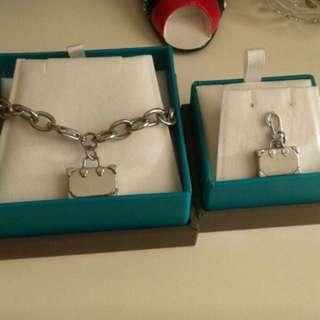 Preloved : Authentic Morellato suitcase bracelet and pendant