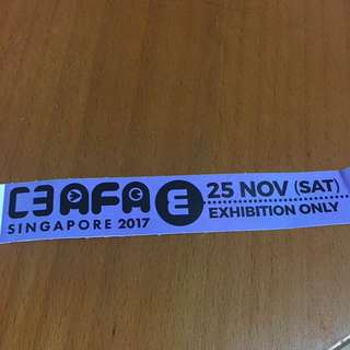 AFA SG 2017 25 Nov Exhibition Only ticket