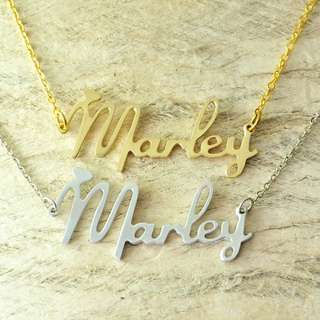 Custom-made name necklace