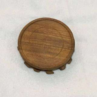 """X'mas Offer {Artwork - Wooden Display/Ornament Stand} Beautiful Diameter 11cm (4 1/4"""") Round Solid Wooden Display Stand"""