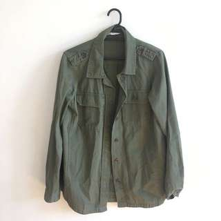 Khaki Army Green Jacket