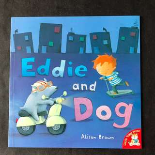 💥{NEW} AWARD WINNING - Eddie and the Dog by Alison Brown Large Story Book #blackfridaysale