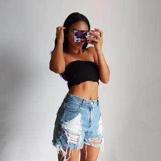 VINTAGE LEVIS Distressed Denim Cut-Off Shorts - shop rachelteetyler wardrobe
