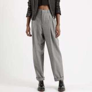Topshop light wool mensy trousers