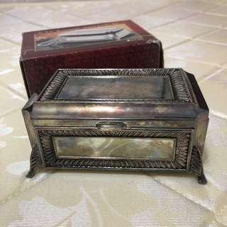 "金屬手飾盒 5"" x 3"" Metallic Rectangular Shaped Jewellery Box"
