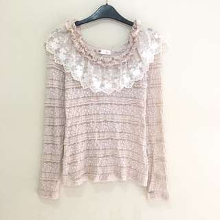 Pastel Lacey Stretch Top