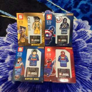 Compatible Lego Superhero Mini Figure